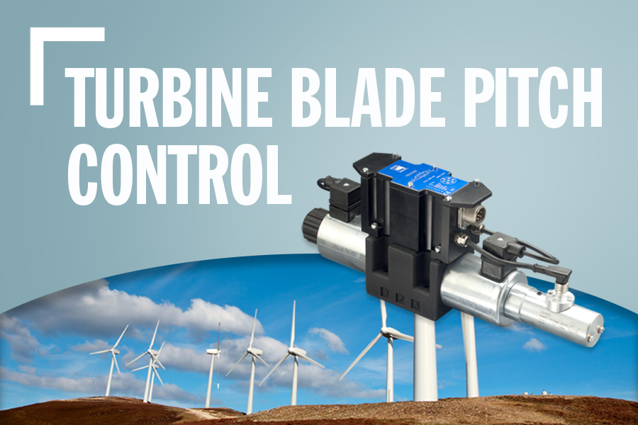 Turbine Blade Pitch Control Banner With Turbines In Background And Text