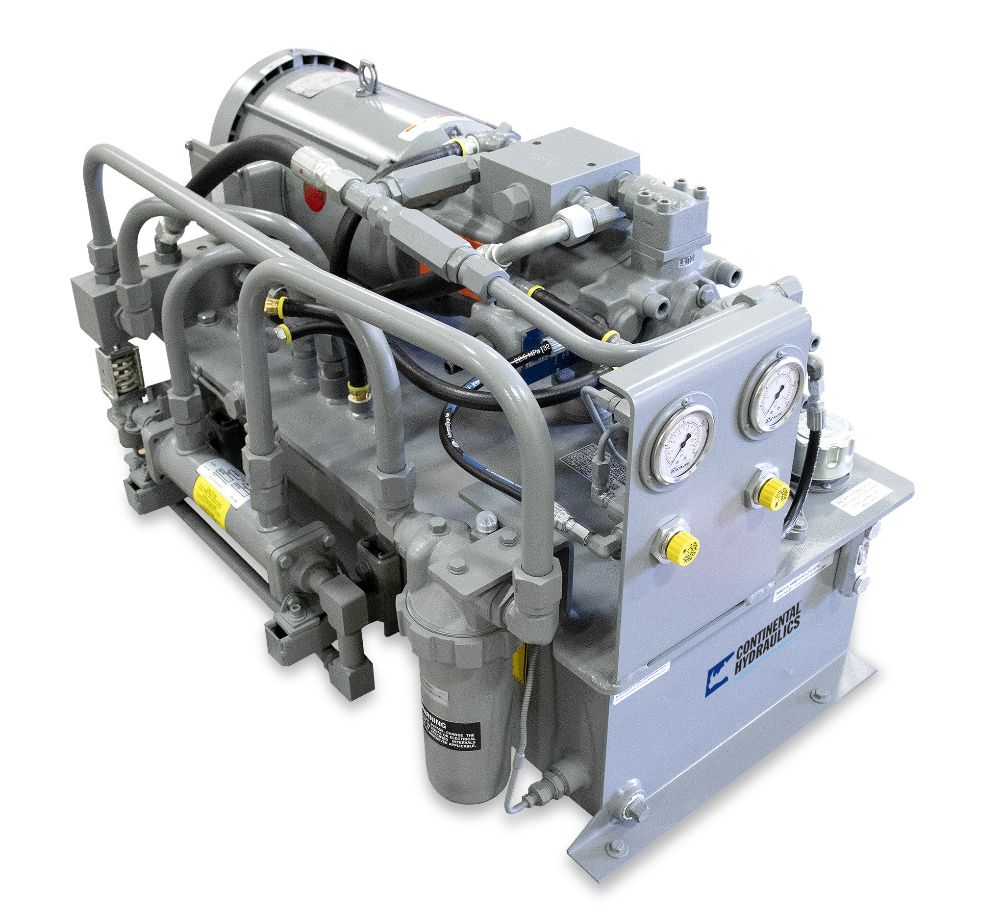 Hydraulic power unit; white background