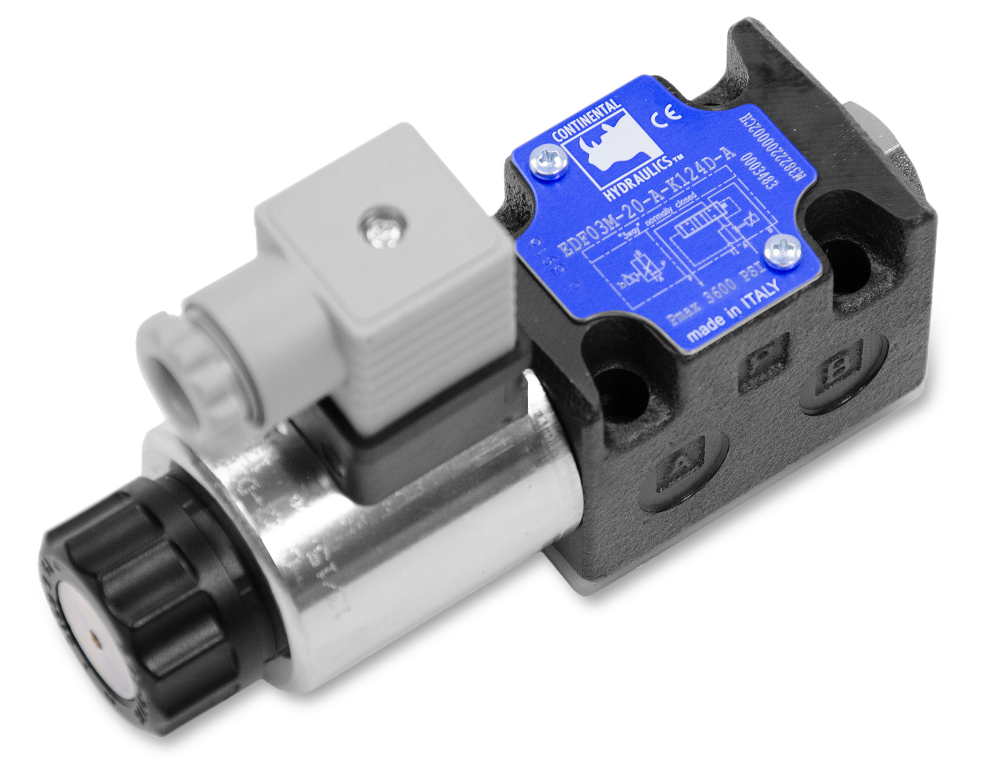 EDF proportional valve product; white background