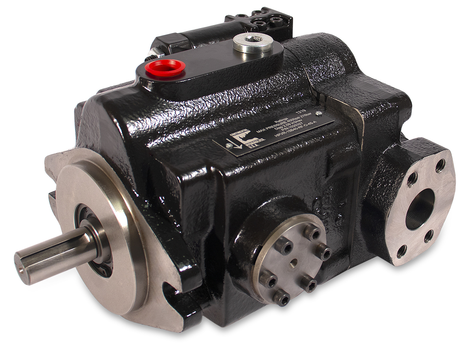 HPVR open-circuit piston pump product; white background