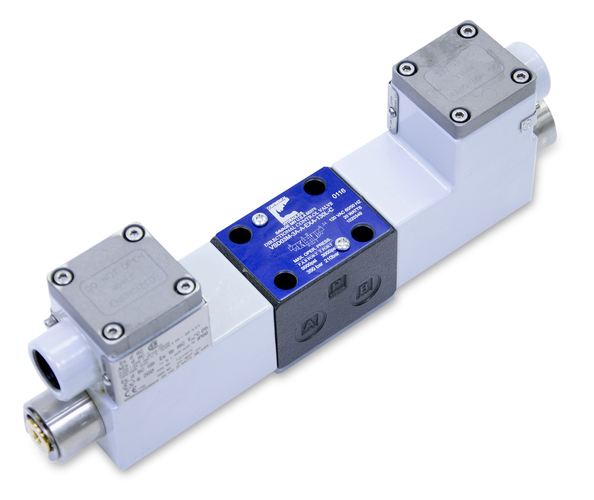 VSD03M-3A directional control valve product; white background