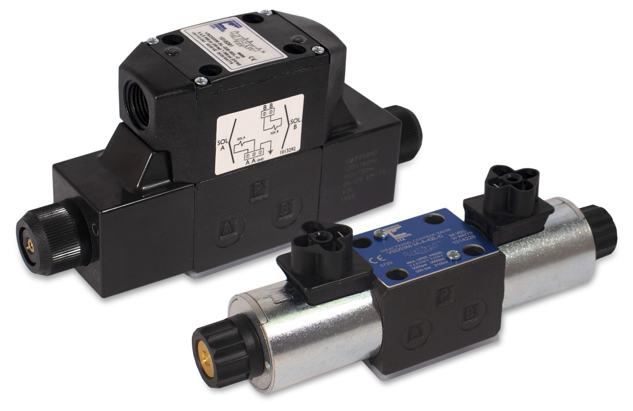 VSD03M direct operated solenoid valve products; white background