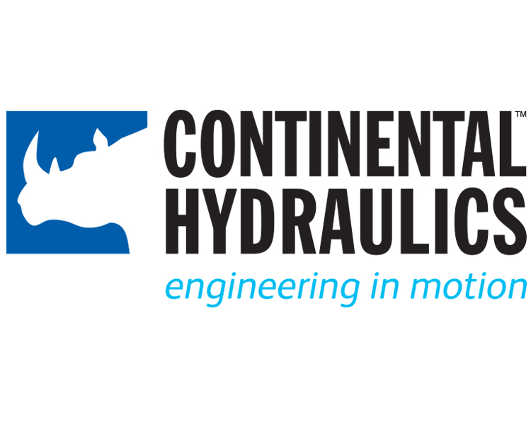 Continental Hydraulics logo with tagline; white background