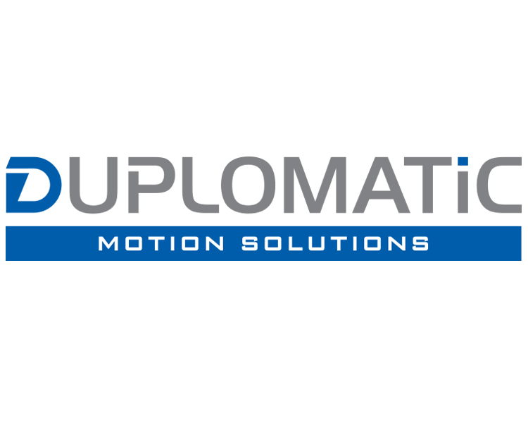 Duplomatic Motion Solutions logo; white background