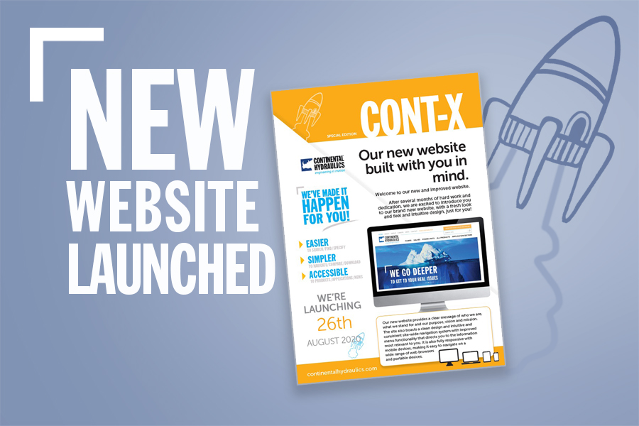 New Website Launch Graphic With Animated Spaceship And Flyer